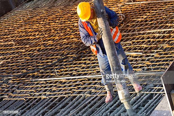 Construction worker and Concrete Engineering