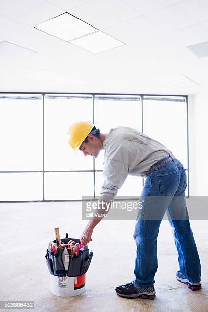 Construction Worker and Tool Belt