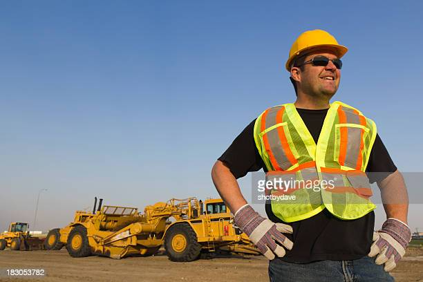 Construction Worker in Front
