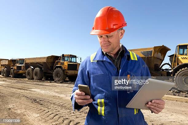 Construction Worker Multitasking