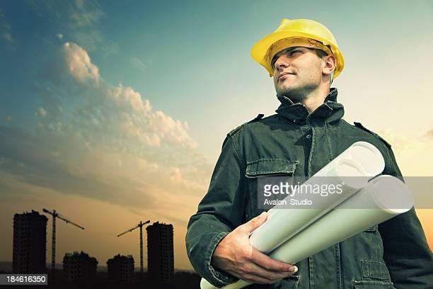 trabalhador de construção - capacete de trabalho - fotografias e filmes do acervo