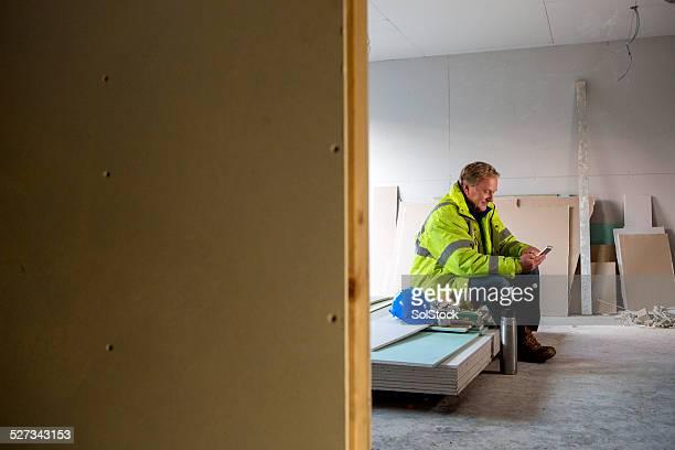 Construction Worker On His Dinner Break