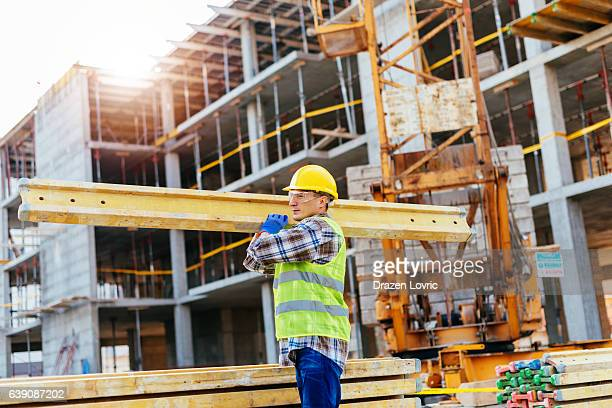 Construction worker on the construction site