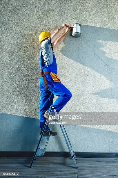 construction worker - step ladder stock photos and pictures
