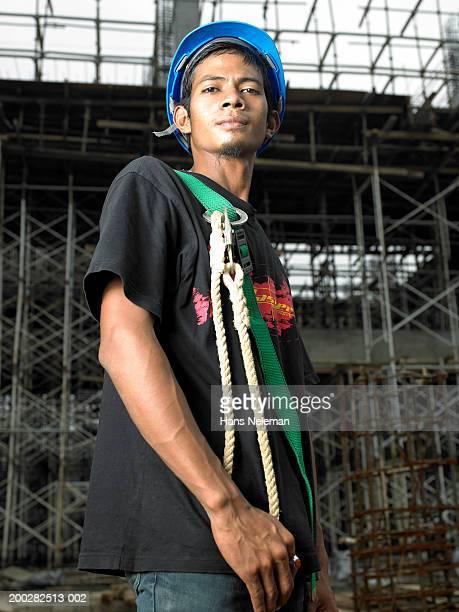 construction worker, portrait - hans neleman ストックフォトと画像