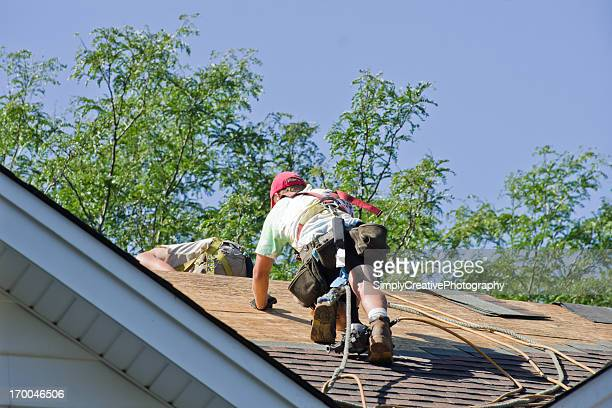 Construction Worker Roofing
