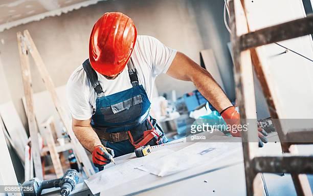 Construction worker routine.