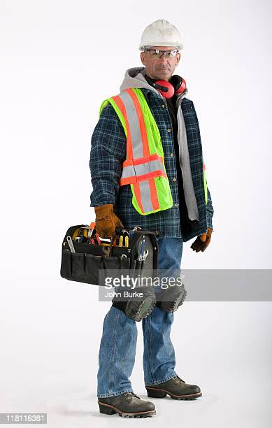 construction worker with reflective safty vest