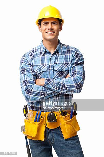 Construction Worker With Tool Belt - Isolated