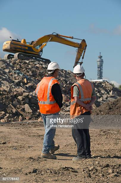 Construction Workers at Land Reclamation Site