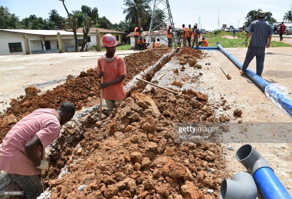 LIBERIA-DEVELOPMENT-SANITATION-WATER-SUPPLY : Nachrichtenfoto