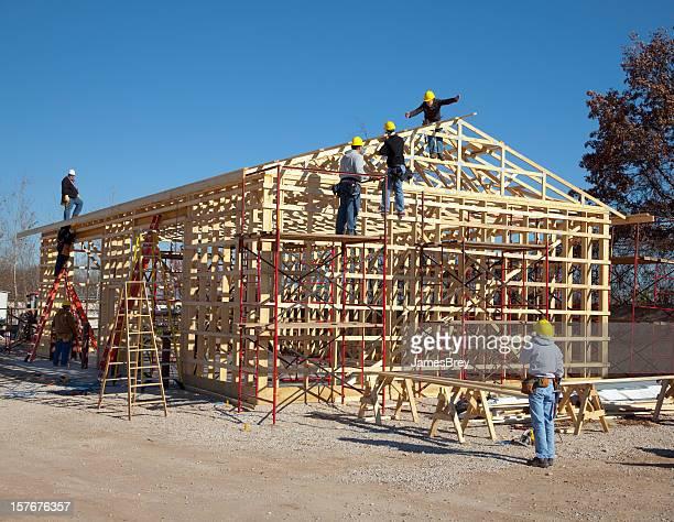 Bau Arbeiter Rahmung-Gebäude