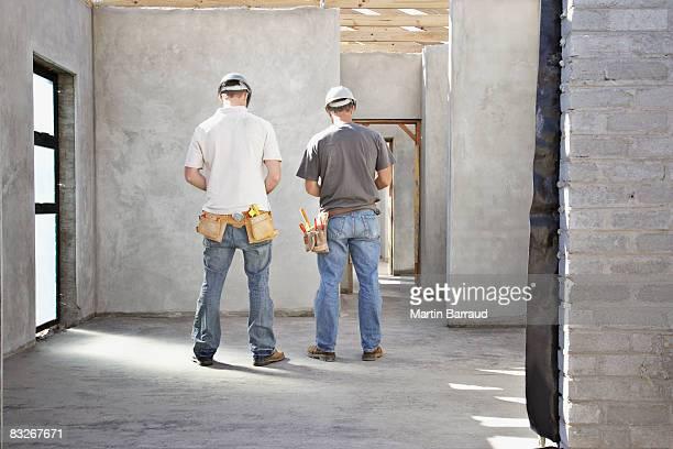 建設作業員に未加工のホーム