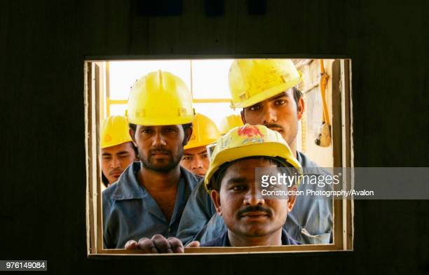 Construction workers on a new sky scrapper