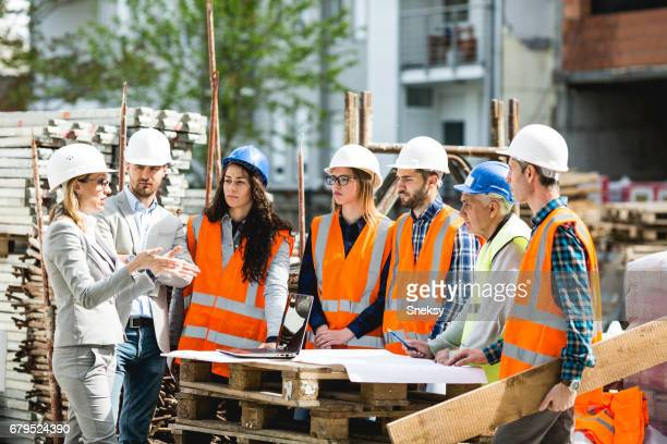 construction workers - safety stock pictures, royalty-free photos & images