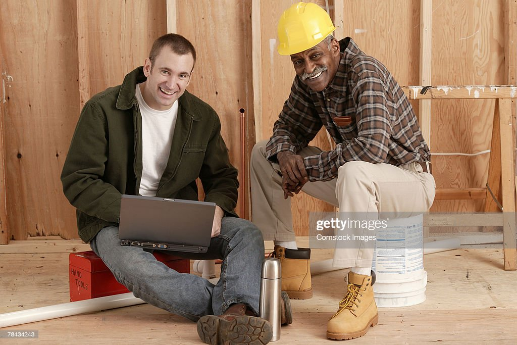 Construction workers : Stockfoto