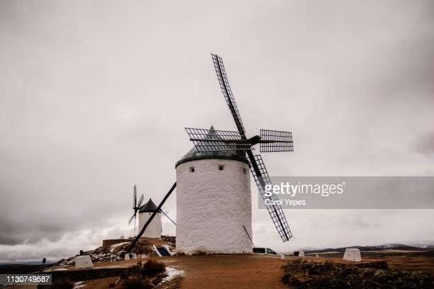 consuegra windmils in castilla la mancha, spain - トレド ストックフォトと画像