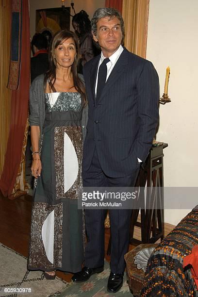 Consuelo Castiglioni and Gianni Castiglioni attend MARNI Dinner for Consuelo Castiglioni at The Home of Jacqueline Schnabel on April 29, 2006 in New...