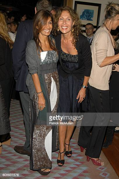 Consuelo Castiglioni and Jacqueline Schnabel attend MARNI Dinner for Consuelo Castiglioni at The Home of Jacqueline Schnabel on April 29, 2006 in New...