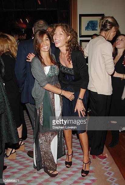 Consuelo Castiglioni and Jaquline Schnabel at the Marni dinner for Consuelo Castiglioni