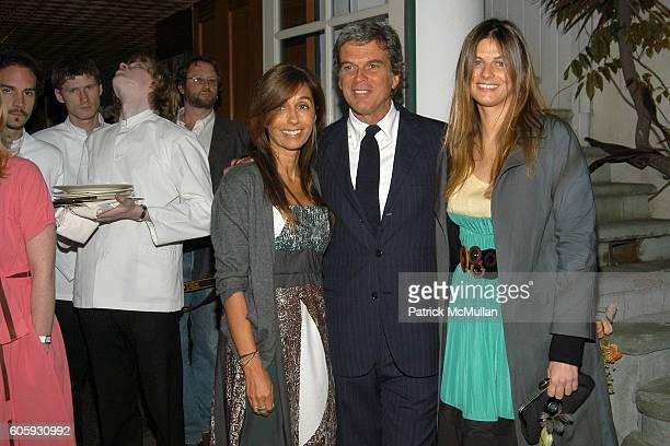 Consuelo Castiglioni, Gianni Castiglioni and Carolina Castiglioni attend MARNI Dinner for Consuelo Castiglioni at The Home of Jacqueline Schnabel on...