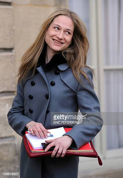 Consuelo Remmert, Diplomatic aids of the Elysee Palace and half sister of French fisrt lady Carla Bruni Sarkozy leaves the Elysee Palace on March 10,...