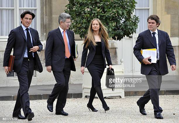 Consuelo Remmert , trainee at the diplomatic unit of the Elysee Palace and half-sister of first Lady Carla Bruni Sarkozy, arrives with Jean-David...