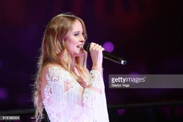 Consuelo Schuster performs as part of Tommy Torres concert 'Ty y Yo' at Coliseo Jose M Agrelot on February 16 2018 in San Juan Puerto Rico