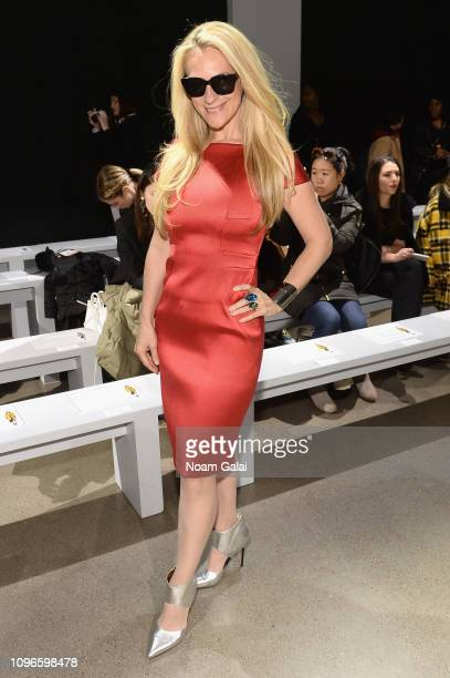 Consuelo Vanderbilt attends the Taoray Wang front row during New York Fashion Week The Shows at Gallery II at Spring Studios on February 9 2019 in...