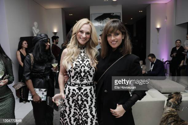 Consuelo Vanderbilt Costin and guest attend the LA Launch Event Of SohoMuse at Christopher Guy West Hollywood Showroom on February 07 2020 in West...