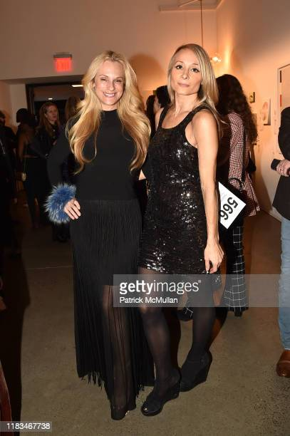 Consuelo Vanderbilt Costin and Indira Cesarine attend 25th Annual ARTWALK NY Benefiting Coalition For The Homeless Presented By Max Mara at Spring...