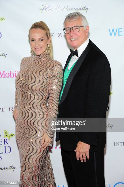 Consuelo Vanderbilt Costin and Pete Callahan attend Wells Of Life Charity Benefits At The 8th Annual Better World Awards Event Roc4Humanity at The...