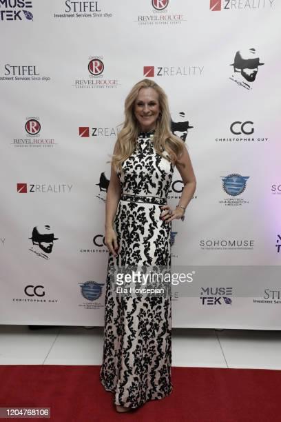 Consuelo Vanderbilt Costin attends the LA Launch Event Of SohoMuse at Christopher Guy West Hollywood Showroom on February 07 2020 in West Hollywood...