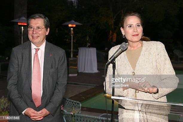 Consul General Alain Dudoit and Minister Sandra Pupatello