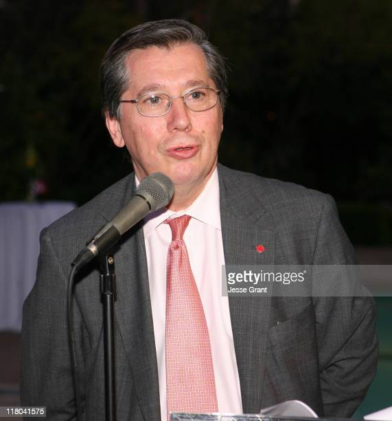 Consul General Alain Dudoit during Official Opening of the Ontario International Marketing Centre at Private Home in Los Angeles, California, United...