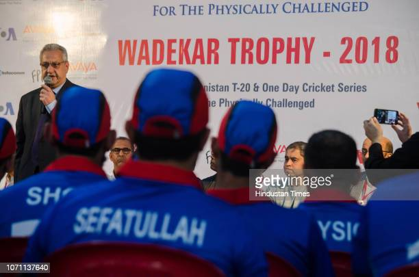Consul General of Afghanistan in India Mohammed Zia Salehi during an inauguration of Wadekar Trophy 2018 for physically challenged at Air India...
