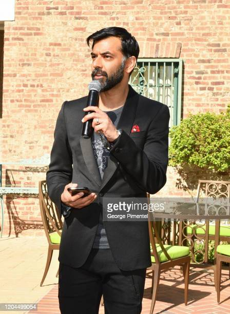 Consul General Of Canada Mr Zaib Shaikh speaks at The Consulate General Of Canada's Oscar Luncheon at Official Residence Of Canada on February 06...