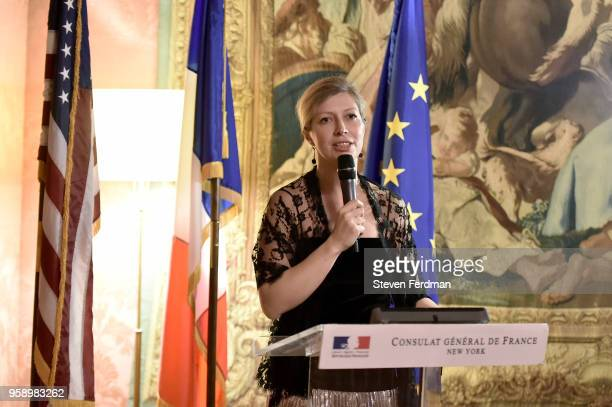 Consul General of France AnneClaire Legendre attends FIAF Young Patrons and Carnegie Hall Notables Spring Soiree at The French Consulate on May 15...