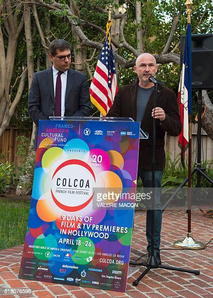 Consul General of France in Los Angeles Christophe Lemoine and Executive Producer and Artistic Director of COLCOA French Film Festival Francois...
