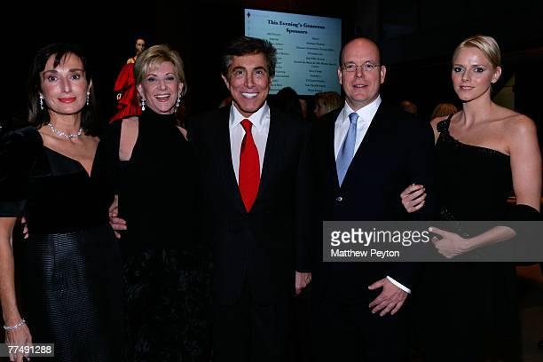Consul General of Monaco Maguy Maccario Doyle Elaine Wynn hotelier Steve Wynn HSH Prince Albert II of Monaco and girlfriend Charlene Wittstock attend...