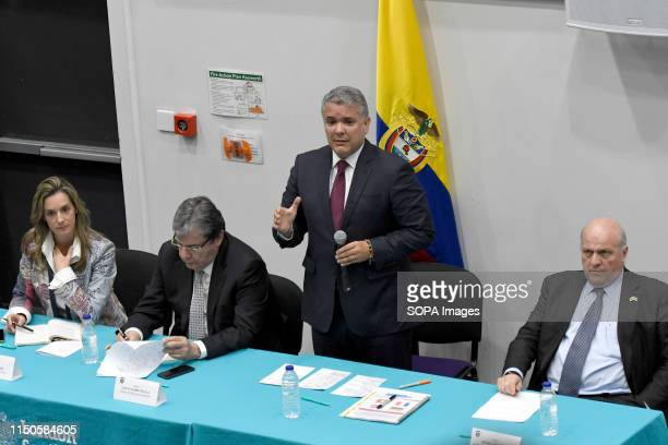 Consul María Ximena Duran Sanín Colombians foreign minister Carlos Holmes Trujillo Colombians President Ivan Duque and Colombian Ambassador in UK...