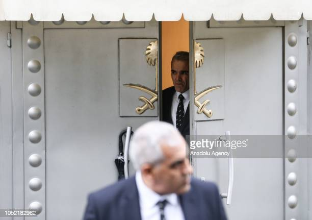 A consulate officer is seen in front of the Saudi consulate as the waiting continues on the disappearance of Prominent Saudi journalist Jamal...