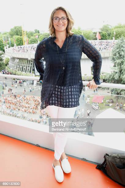Consultant of 'France Television' Mary Pierce attends the 2017 French Tennis Open Day Three at Roland Garros on May 30 2017 in Paris France