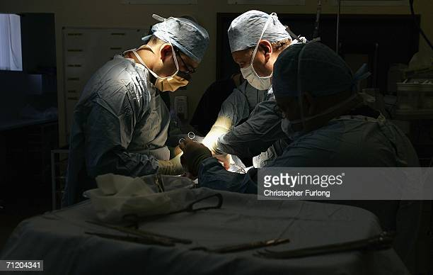 Consultant Surgeon Andrew Ready and his team conducts] a live donor kidney transplant at The Queen Elizabeth Hospital Birmingham on June 9 in...