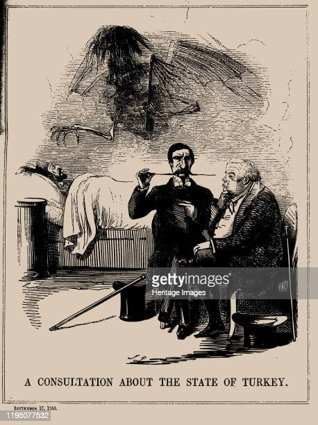 A Consultation about the State of Turkey Punch September 17 1853 Private Collection Artist Leech John