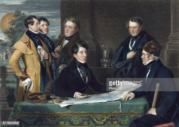 Consultation previous to an aerial voyage from London to Weilburg in Nassau on the 7th day of November 1836 by John Henry Robinson 17961871 engraver...
