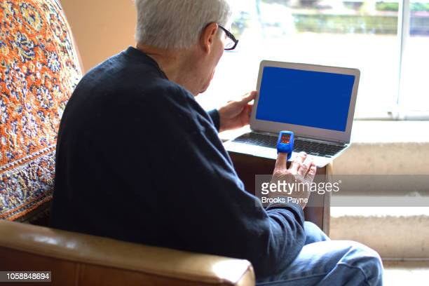Consulting with a doctor via laptop