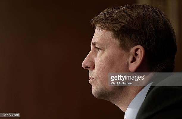Consumer Financial Protection Bureau Director Richard Cordray testifies before the Senate Banking Housing and Urban Affairs Committee November 12...