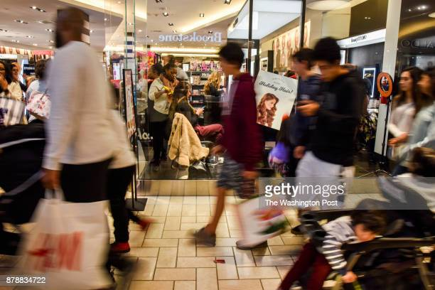 Consumers take to Black Friday shopping at Tysons Corner Center on Friday November 24 2017 in Tysons VA Shopping malls are introducing a multitude of...
