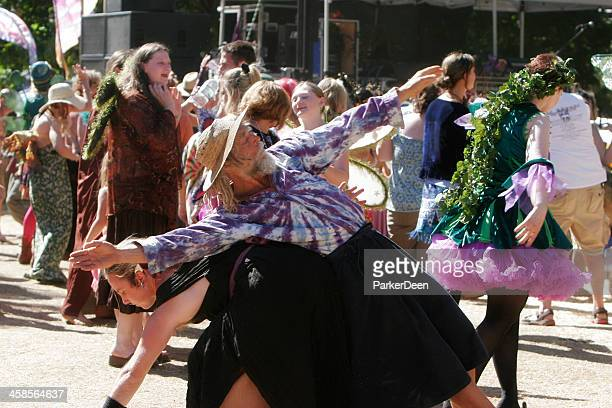 contact improvisation movement at faerie worlds festival- oregon - eugene oregon stock pictures, royalty-free photos & images
